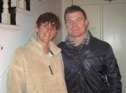 Tara Canning and Brian O' Driscoll