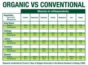 organic food versus conventional